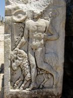 Ephesus - Relief of the god Hermes carrying the Caduceus
