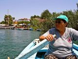 Crossing the Dalyan river